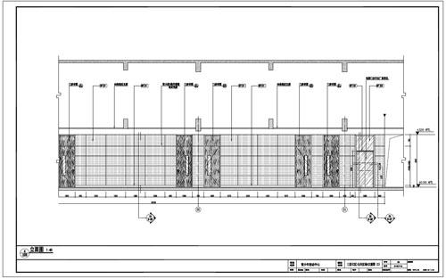 青少年活动中心深化设计施工图三层C区公共区域4立面图(2)