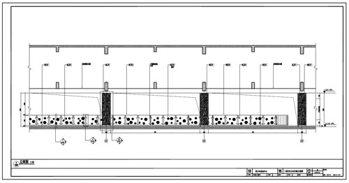 青少年活动中心深化设计施工图三层C区公共区域5立面图