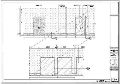 商场深化设计施工图负一层立面图1