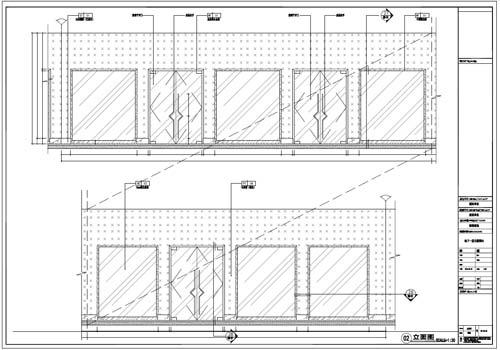商场深化设计施工图负一层立面图2