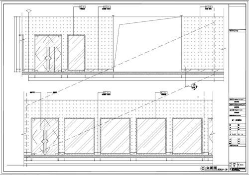 商场深化设计施工图负一层立面图3