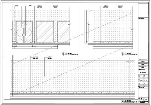 商场深化设计施工图负一层立面图03-04