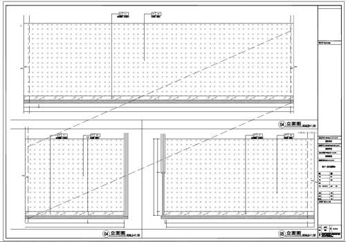 商场深化设计施工图负一层立面图04-05