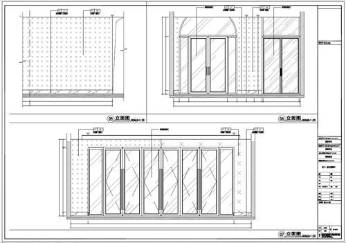 商场深化设计施工图负一层立面图06-07