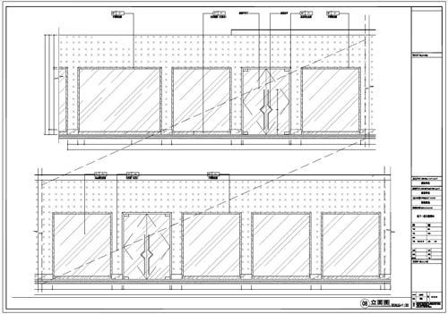 商场深化设计施工图负一层立面图08