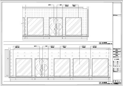 商场深化设计施工图负一层立面图08-09