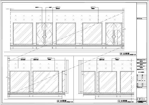 商场深化设计施工图负一层立面图09-10