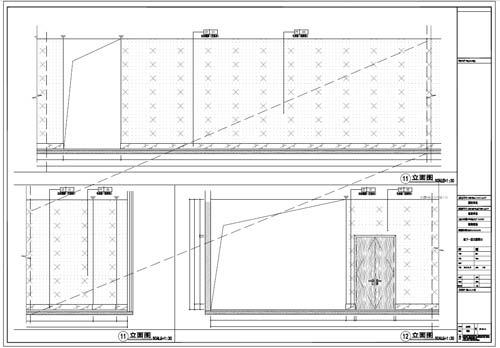 商场深化设计施工图负一层立面图11-12