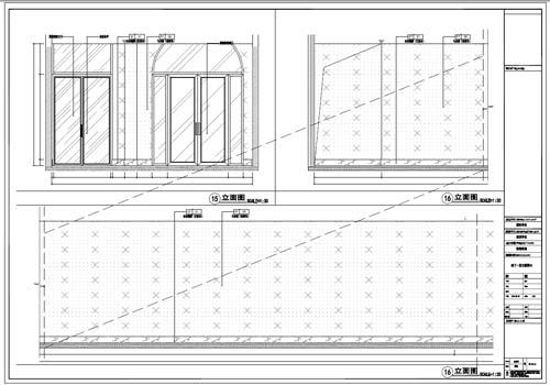 商场深化设计施工图负一层立面图15-16