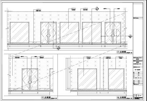 商场深化设计施工图负一层立面图17-18