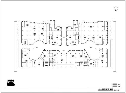 商场深化设计施工图负一层平面布置图