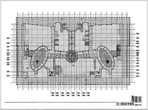 商场深化设计施工图负一层地材平面图