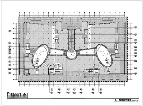 商场深化设计施工图负一层顶面布置图
