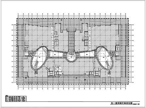 商场深化设计施工图负一层顶面灯具尺寸图