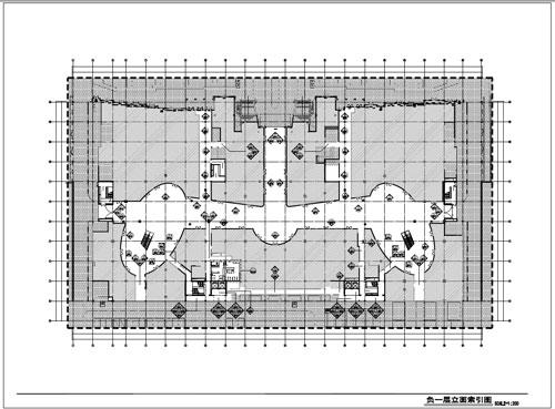商场深化设计施工图负一层立面索引图