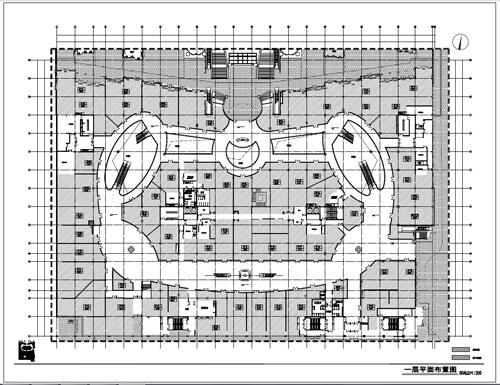 商场深化设计施工图一层平面布置图