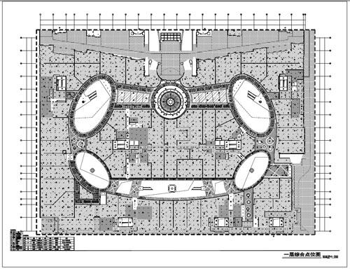 商场深化设计施工图一层综合节点图