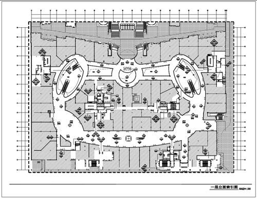 商场深化设计施工图一层立面索引图