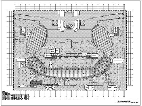 商场深化设计施工图二层综合点位图