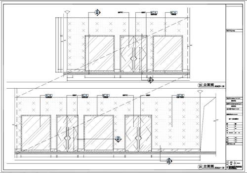 商场深化设计施工图负一层立面图20-21