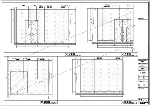 商场深化设计施工图负一层立面图24-26