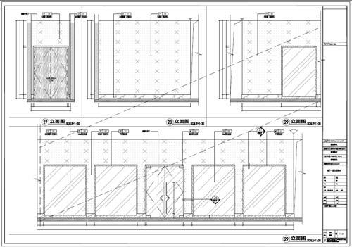 商场深化设计施工图负一层立面图27-29