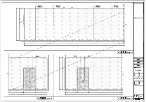 商场深化设计施工图负一层立面图30-31