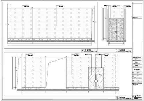 商场深化设计施工图负一层立面图31-33
