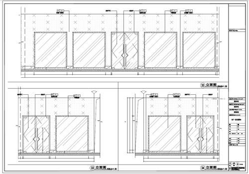 商场深化设计施工图负一层立面图33-34