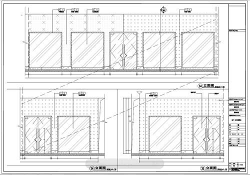 商场深化设计施工图负一层立面图34-35