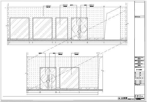 商场深化设计施工图负一层立面图35