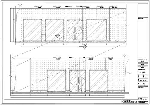 商场深化设计施工图负一层立面图36