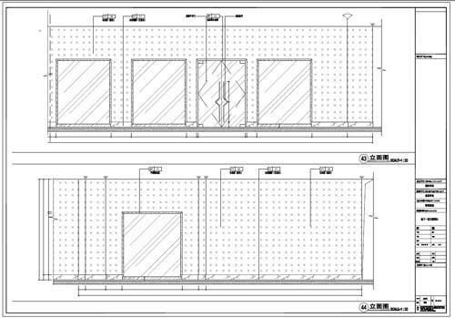 商场深化设计施工图负一层立面图43-44