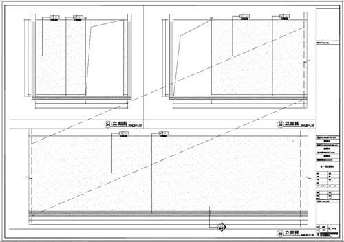 商场深化设计施工图负一层立面图54-55