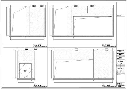 商场深化设计施工图负一层立面图56-59