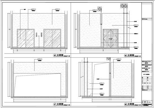 商场深化设计施工图负一层立面图65-68