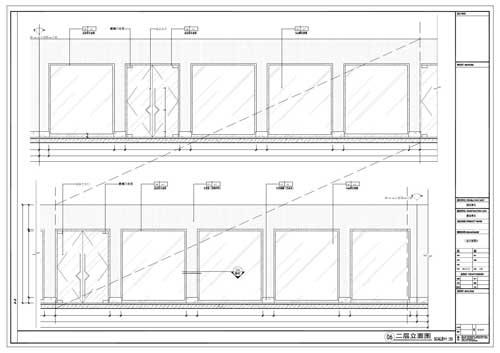 商场深化设计施工图二层立面图06