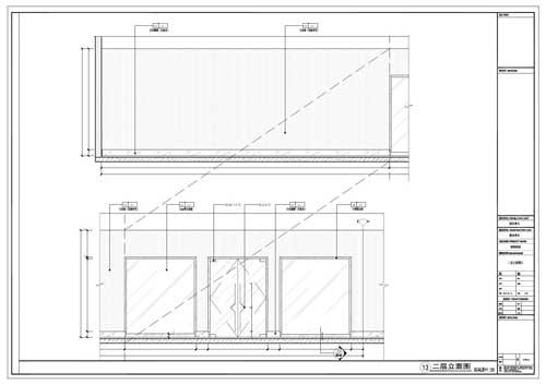 商场深化设计施工图二层立面图11-12