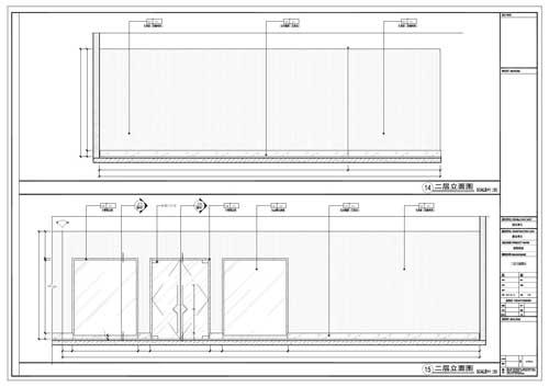 商场深化设计施工图二层立面图14-15