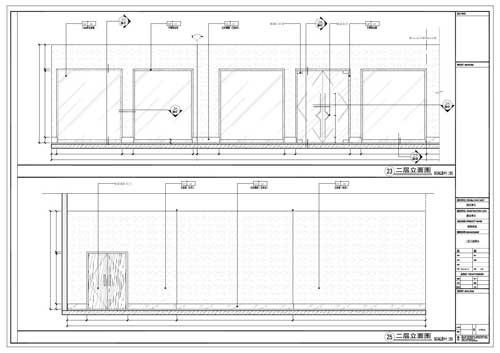 商场深化设计施工图二层立面图23/25