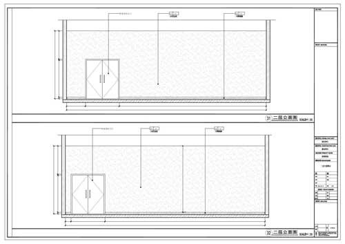 商场深化设计施工图二层立面图31-32
