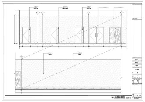 商场深化设计施工图二层立面图41