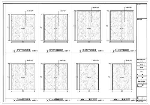 商场深化设计施工图门表面2
