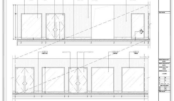商场深化设计施工图二层立面图01