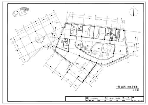 青少年活动中心施工图深化设计一层B区平面布置图