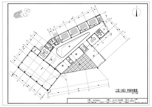 青少年活动中心施工图深化设计二层A区平面布置图