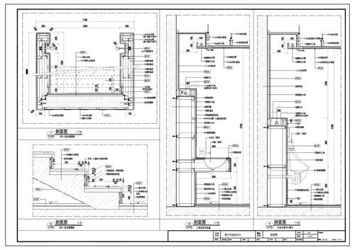 青少年活动中心施工图深化设计节点大样刨面图7-10