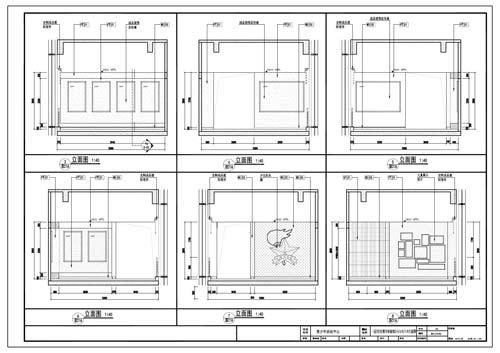 青少年活动中心施工图深化设计C区1层红领巾体验馆立面图3-8