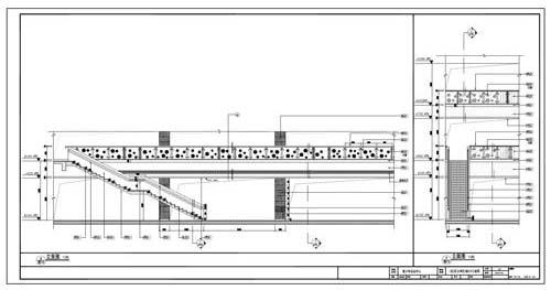 青少年活动中心施工图深化设计C区1层公共区域8/9立面图