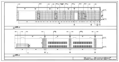 青少年活动中心施工图深化设计C区1层公共区域5/6立面图
